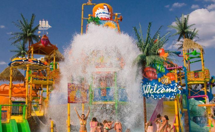детская зона авапарк Золотой пляж в Анапе