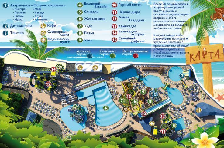авапарк Золотой пляж в Анапе план