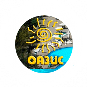 Логотип аквапарка Оазис официальный сайт