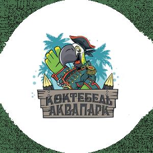 логотип аквапарка Коктебель