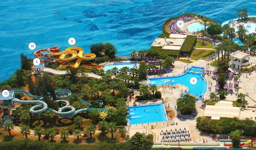 план аквапарка Айя Напа на Кипре WaterWorld