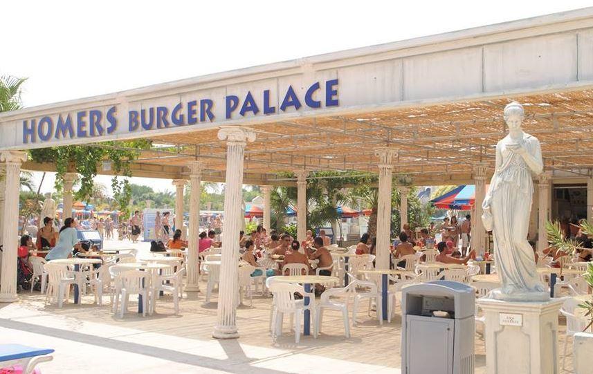 Кафе аквапарка Айя Напа на Кипре WaterWorld