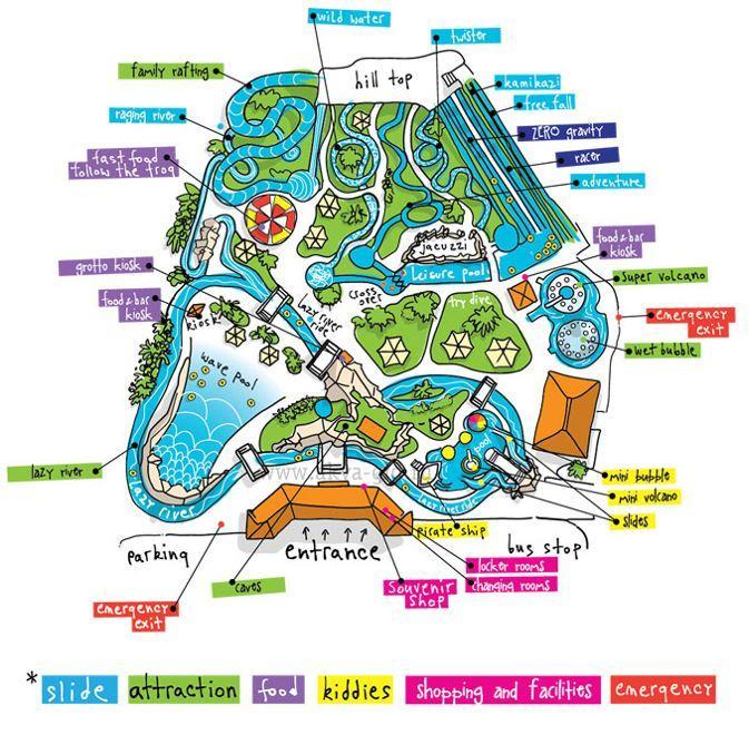 Аквапарк Афродита в Пафосе план